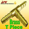 "8mm 5/16"" Brass Barbed T 3 way Fuel Hose Joiner"